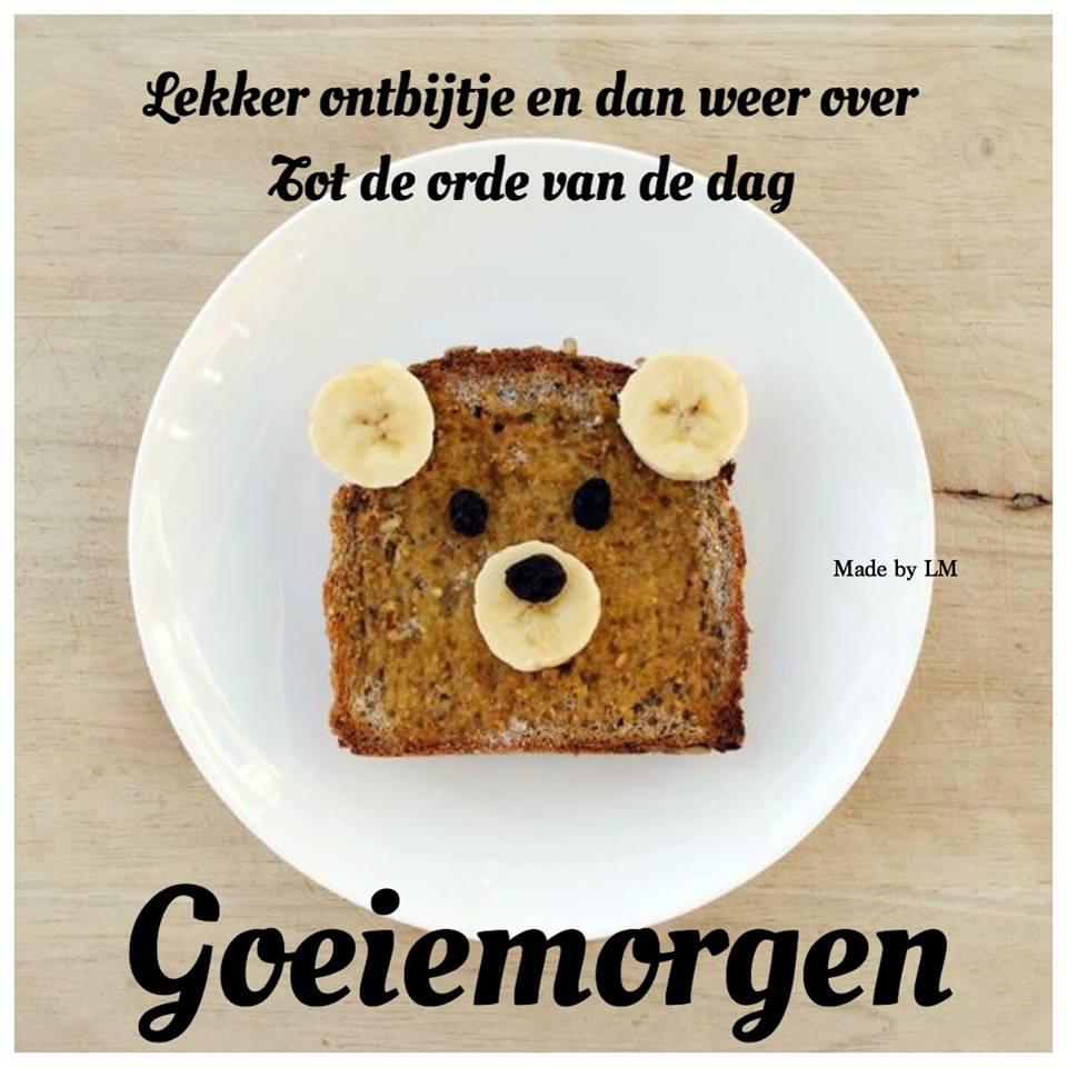 Lekker ontbijtje en dan weer over Tot de orde van de dag Goeiemorgen