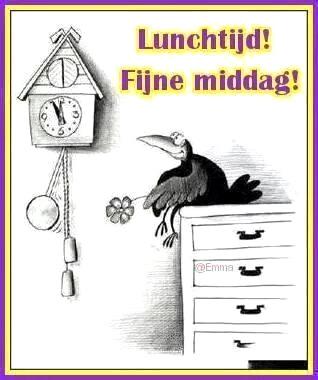 Lunchtijd! Fijne middag!