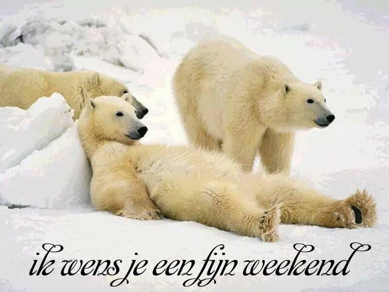 Ik wens je een fijn weekend