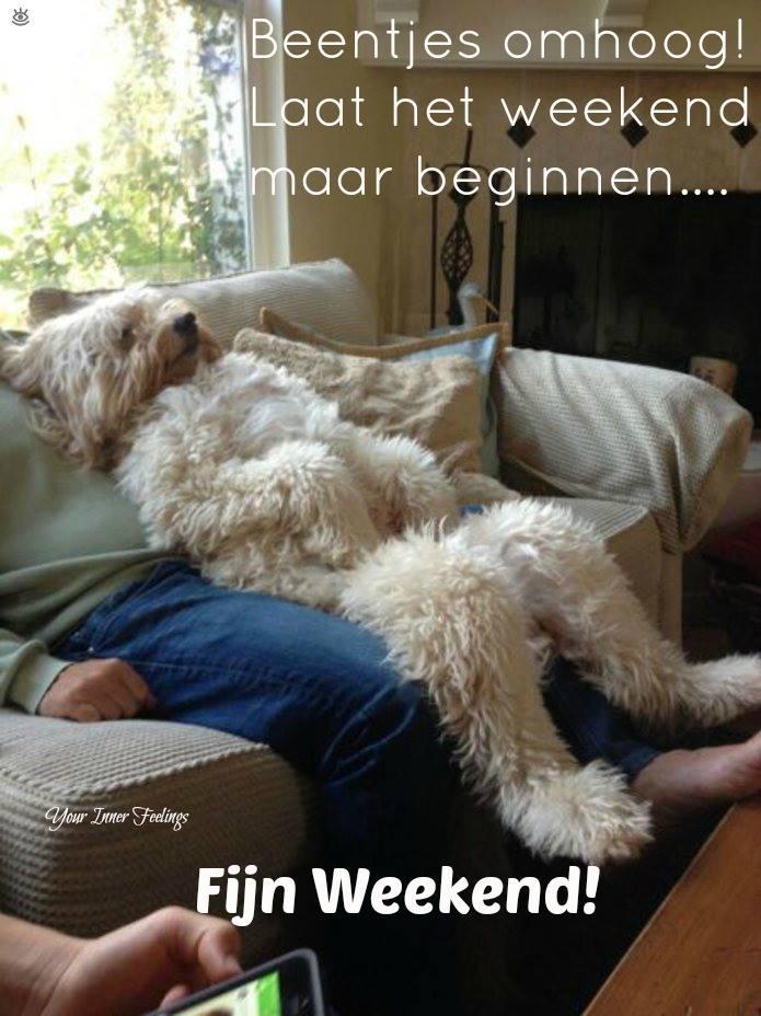 Beentjes omhoog! Laat het weekend maar beginnen... Fijne Weekend!