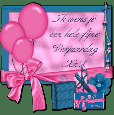 Ik wens je een hele fijne verjaardag xxx