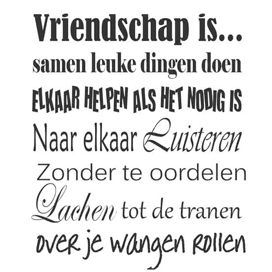 Vriendschap is... Samen leuke dingen doen Elkaar helpen als het nodig is, Naar elkaar luisteren zonder te oordelen, Lachen...