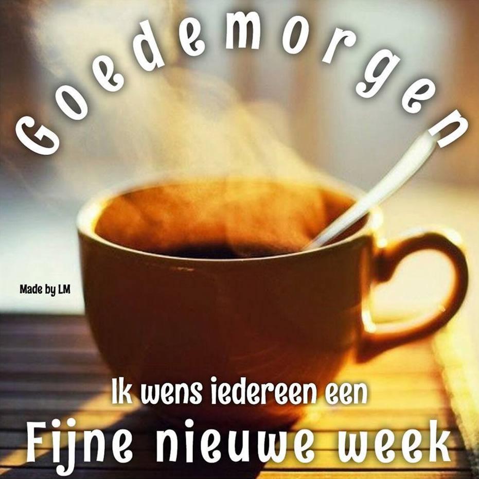 Goedemorgen. Ik wens iedereen een Fijne nieuwe week