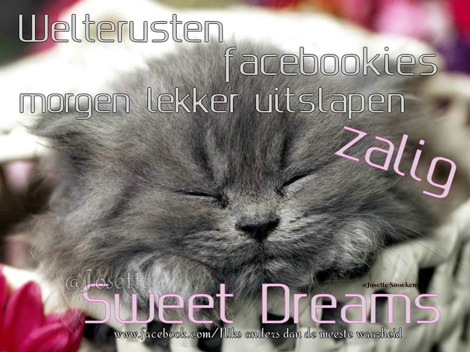 Welterusten facebookies morgen...