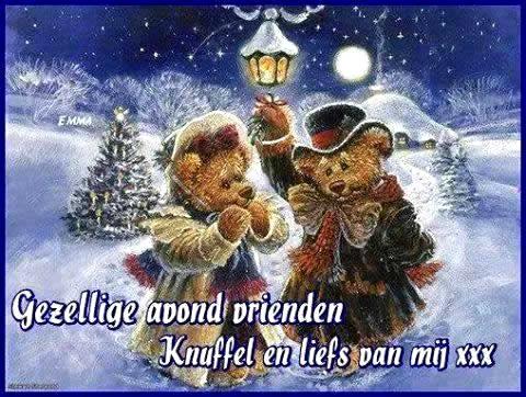 Gezellige avond vrienden Knuffel en liefs van mij xxx