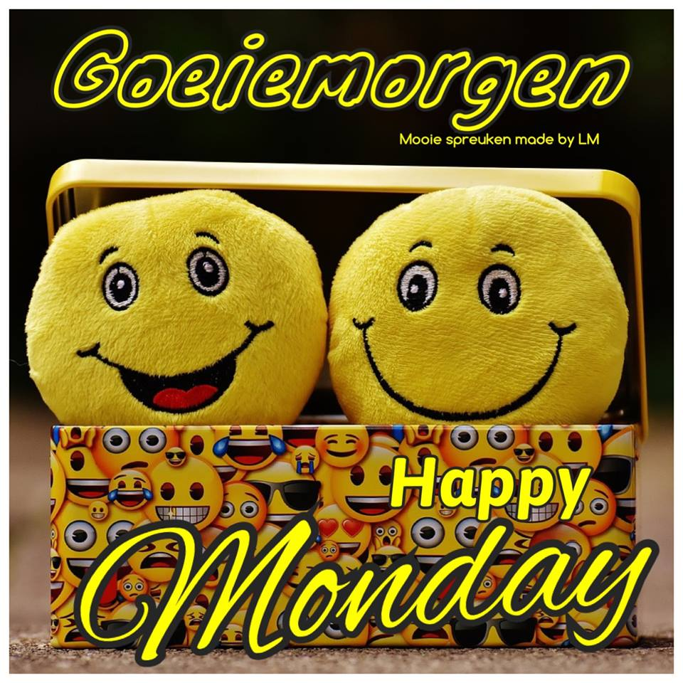 Goeiemorgen. Happy Monday.