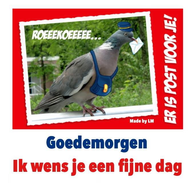 Roeeekoeeee... Er is post voor...