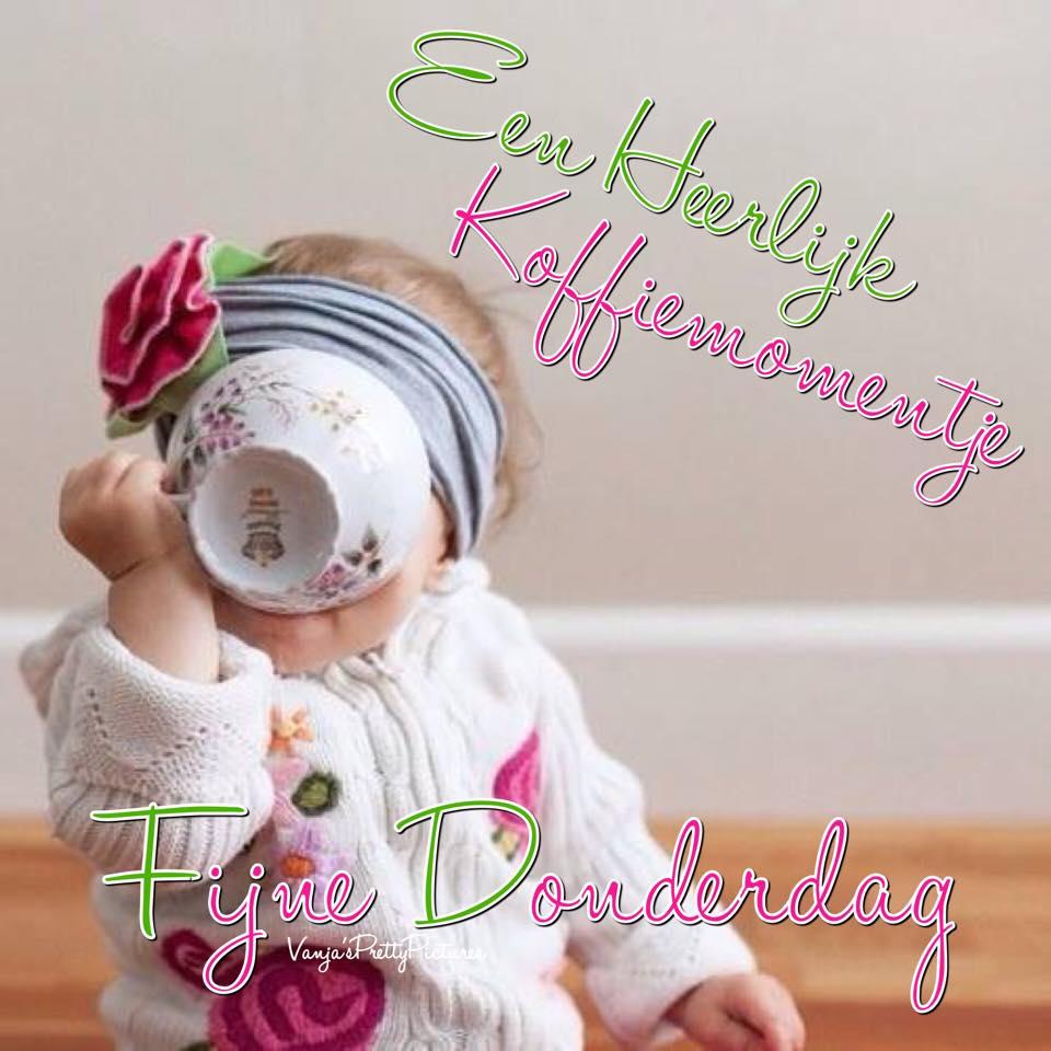 Een heerlijk koffiemomentje. Fijne Donderdag Plaatjes