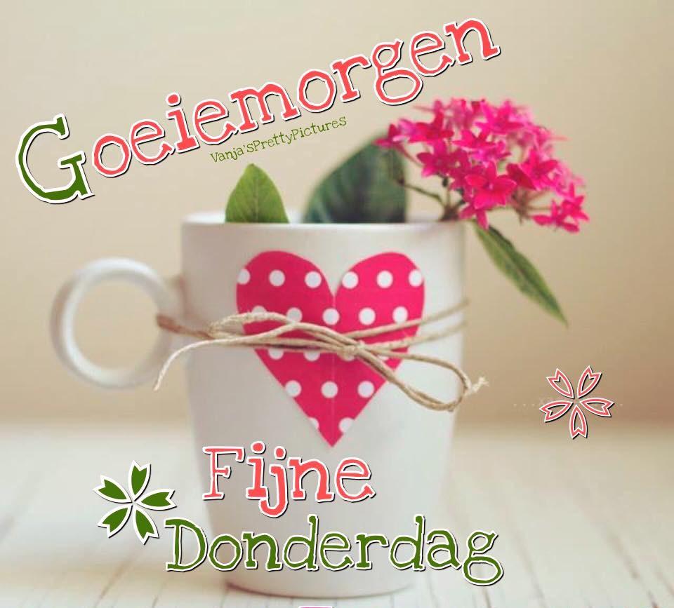 Goeiemorgen, Fijne Donderdag Facebookies Plaatjes