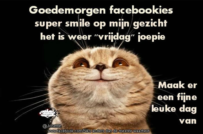 Goedemorgen facebookies super smile op...