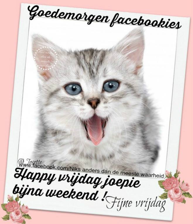 Goedemorgen facebookies Happy...