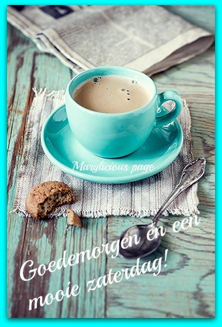 Goedemorgen en een mooie...