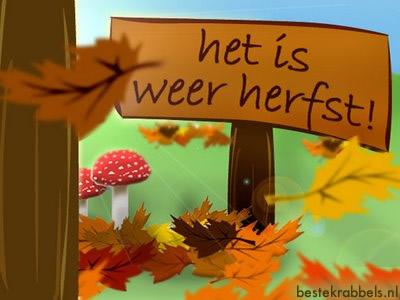 Het is weer herfst!
