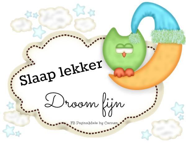 Slaap lekker droom fijn