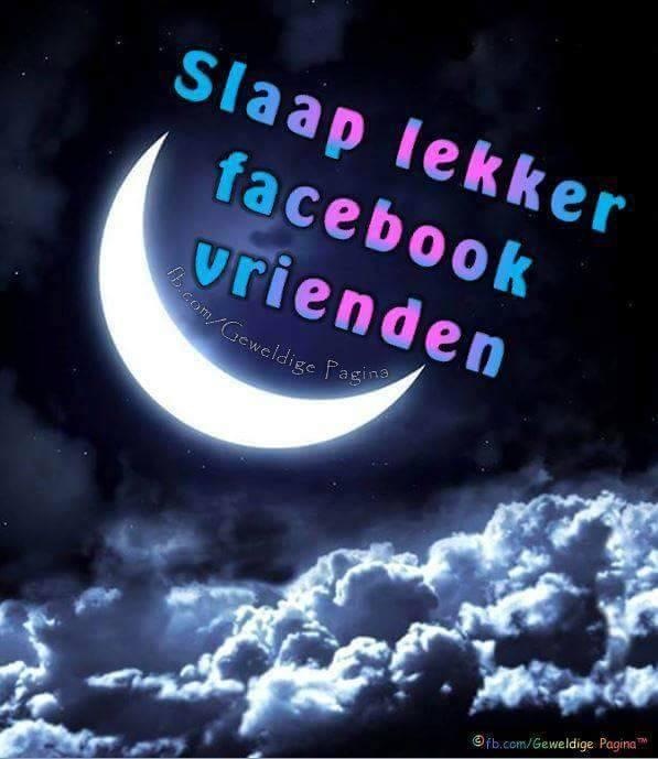 Slaap lekker facebook vrienden
