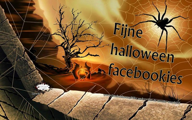Fijne halloween facebookies