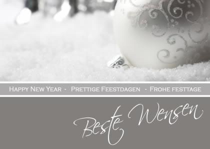 Happy New Year, Prettige Feestdagen, Frohe Festtage, Beste Wensen