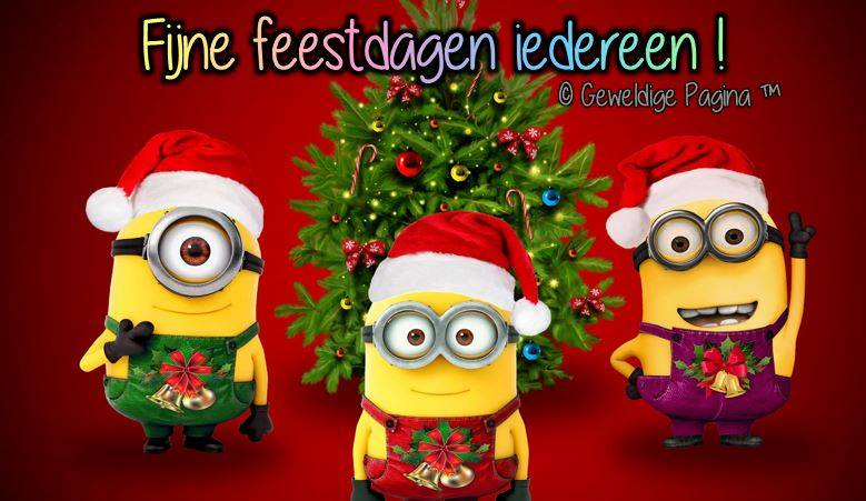 Fijne feestdagen iedereen!