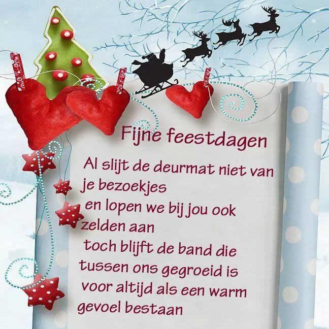 Fijne feestdagen Al slijt de deurmat niet van je bezoekjes en lopen we bij jou ook zelden aan toch blijft de band die tussen...