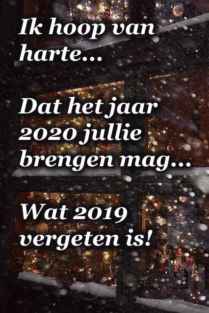 Ik hoop van harte... Dat het jaar 2020...