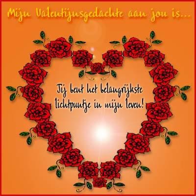 Mijn Valentijnsgedachte aan jou is... Jij bent het belangrijkste lichtpuntje in mijn leven!