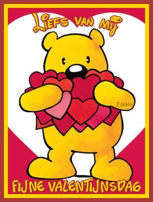 Liefs van mij. Fijne Valentijnsdag