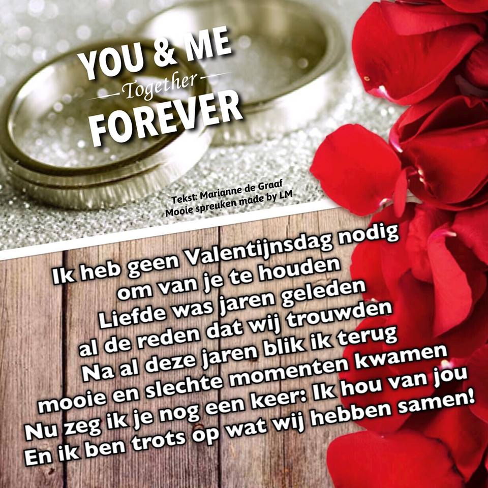You & me together forever Ik heb geen...