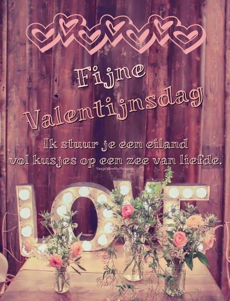 Fijne Valentijnsdag Ik stuur je een eiland vol kusjes op een zee vol liefde