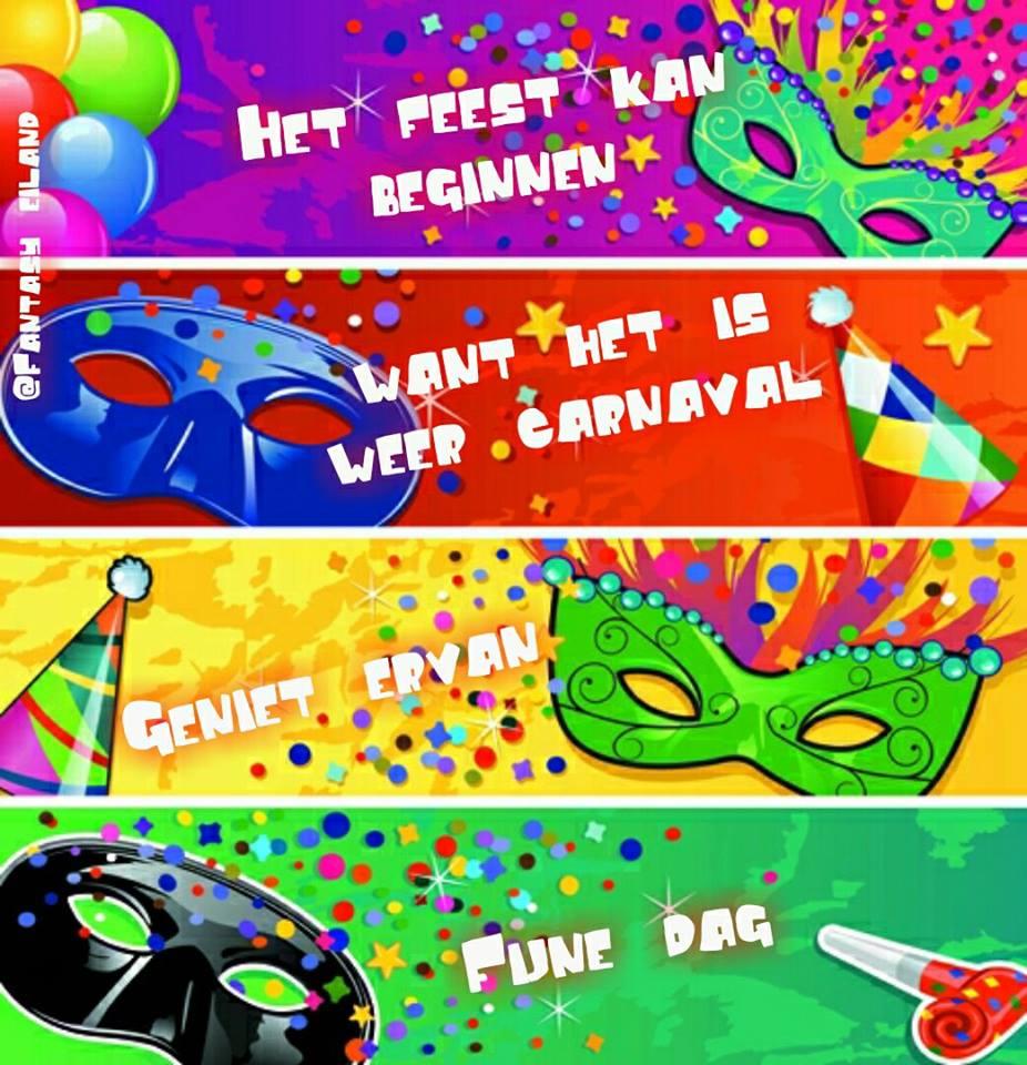Het feest kan beginnen... Want het is weer carnaval... Geniet ervan... Fijne dag.