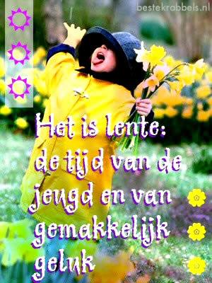 Het is lente: de tijd van de...