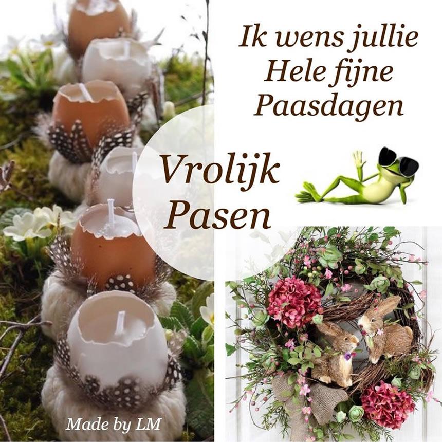 Ik wens jullie hele fijne Paasdagen Vrolijk Pasen