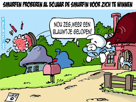Sarah 50 Smurfen proberen al 50 jaar de...