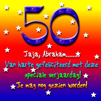 50 Jaja, Abraham.... Van harte...