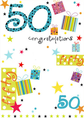 50 congratulations fifty 50...