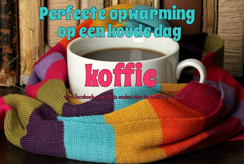 Perfecte opwarming op een koude dag Koffie