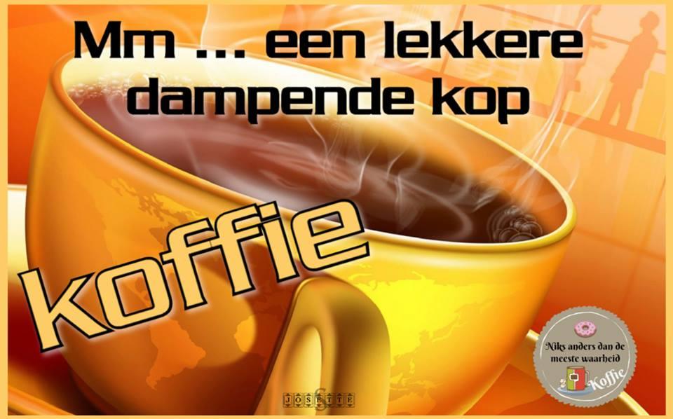 Mm... een lekkere dampende kop koffie
