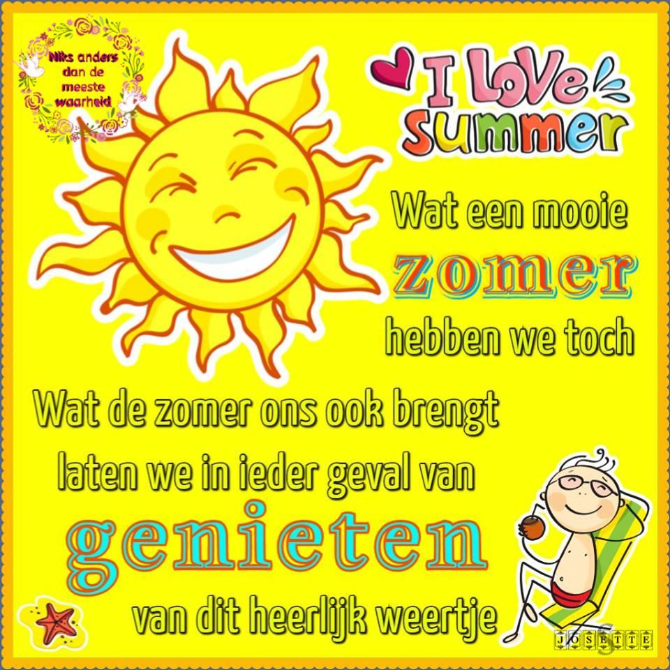 Wat een mooie zomer hebben we toch. Wat de zomer ons ook brengt laten we in ieder geval van genieten van dit heerlijk...
