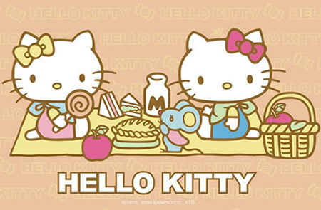 Hello Kitty Doet Picknicken...