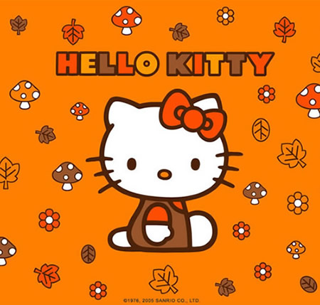 Hello Kitty in de Herfst