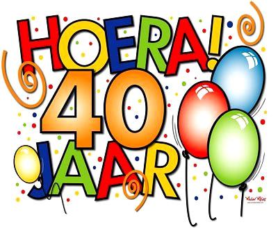 hoera 40 jaar 40 Jaar plaatje #11991   BesteKrabbels.nl hoera 40 jaar