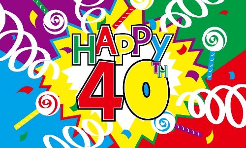 proficiat 40 jaar Van Harte Gefeliciteerd Vrouw 40 Jaar   ARCHIDEV proficiat 40 jaar
