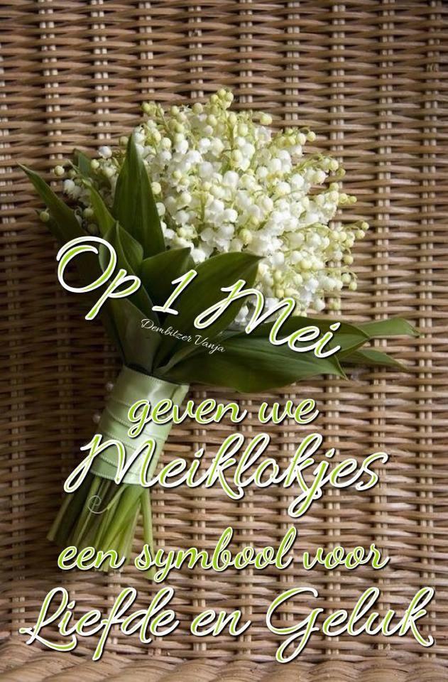 Op 1 Mei geven we Meiklokjes...
