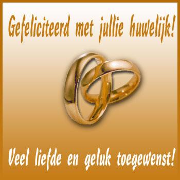 Gefeliciteerd met jullie huwelijk! Veel liefde en geluk toegewenst!