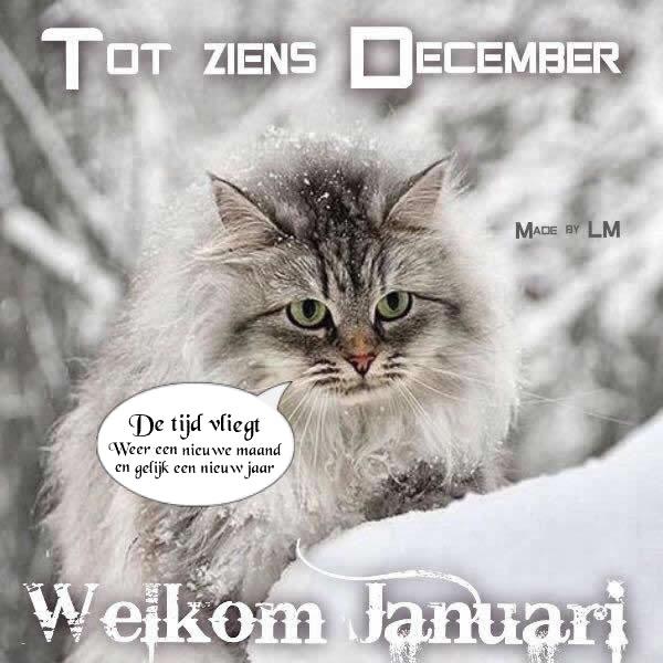 Tot ziens December, Welkom...
