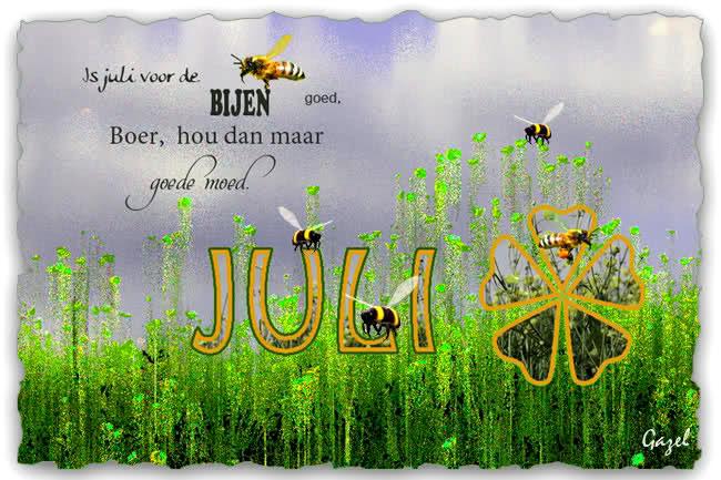 Is juli voor de bijen goed, boer, hou...
