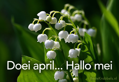 Doei april... Hallo mei