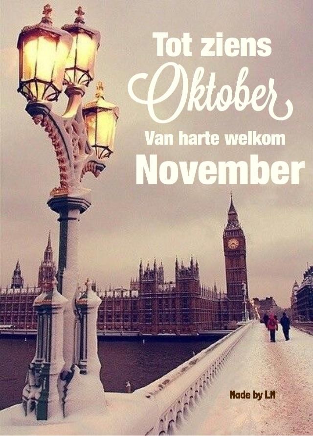 Tot ziens Oktober Van harte...