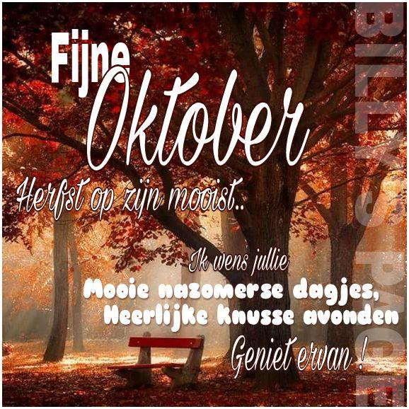 Fijne Oktober Herfst op zijn...