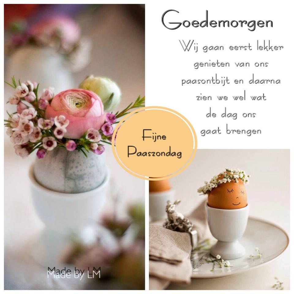 Goedemorgen Fijne Paaszondag
