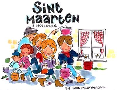 Sint-Maarten krabbel Plaatjes